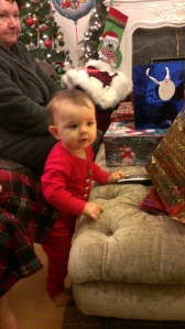 Christmas morning, Baby C didnt quite know what was happening!